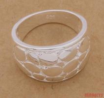 925 zilveren slangenhuid ring.