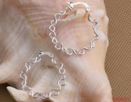 Fashion 925 zilveren Oorbellen diameter 3 cm