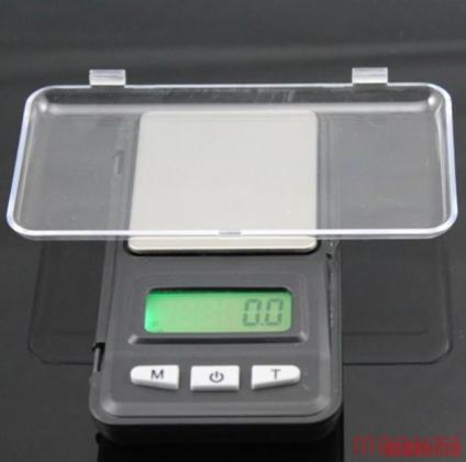0.1 gr tot 500 gr. LCD-scherm digitale weegschaal