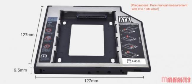 SATA 2e HDD HD Hard Driver Caddy voor 12.7mm