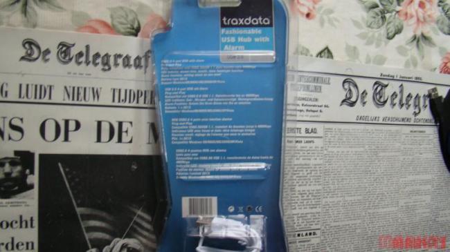 Traxdata usb 2.0 hub met digitale klok