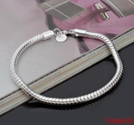 3 mm 925 zilveren slang armband