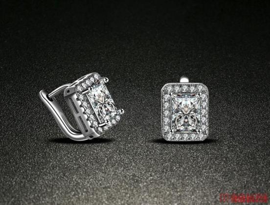 Grote zirkoon mooie dames 925 zilveren oorbellen