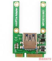 Mini PCI-E Card Slot Uitbreiding naar USB 2.0 adapter